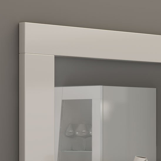 Miroir rectangulaire blanc design for Miroir blanc laque