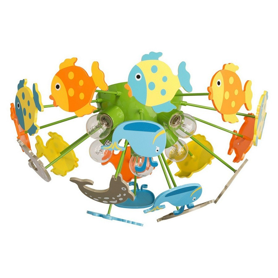 Plafonnier enfant multicolore FISHIES