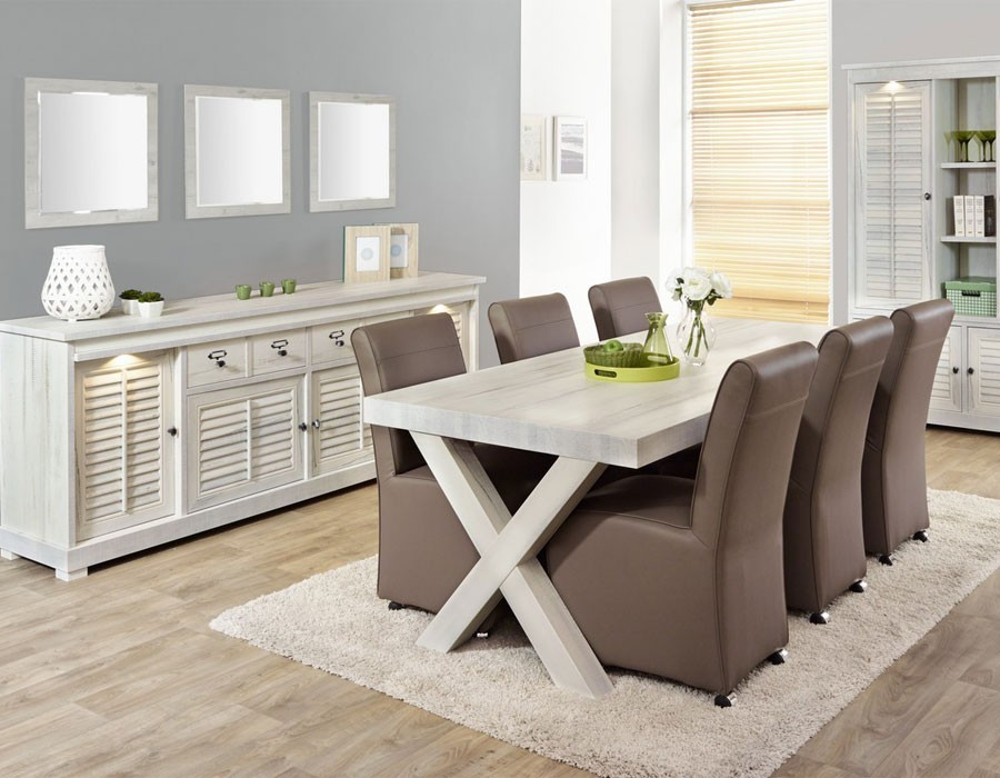best table salle a manger blanc vieilli gallery amazing. Black Bedroom Furniture Sets. Home Design Ideas