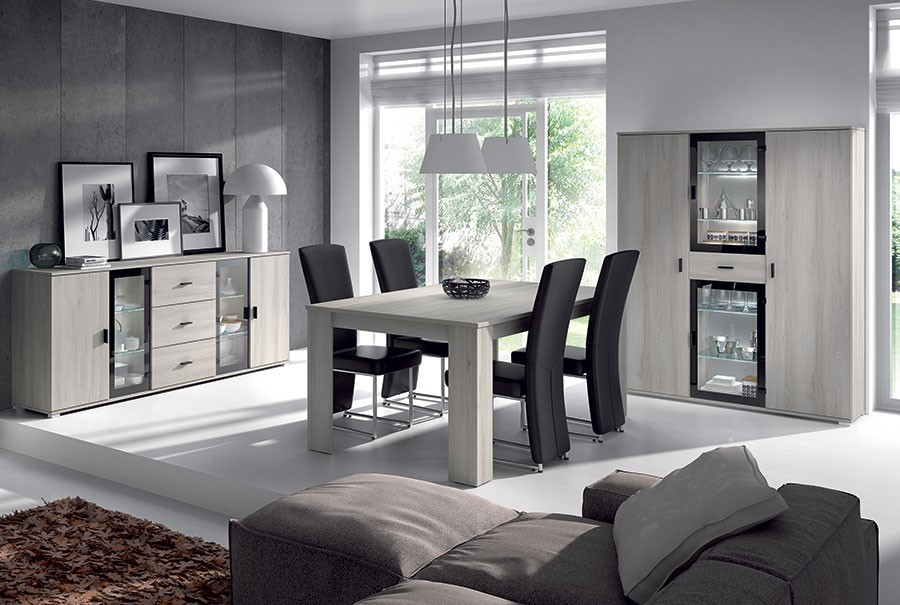 salle manger couleur ch ne gris. Black Bedroom Furniture Sets. Home Design Ideas