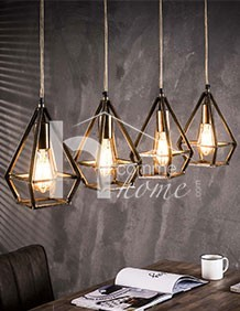 Suspension luminaire design couleur bronze ELTON