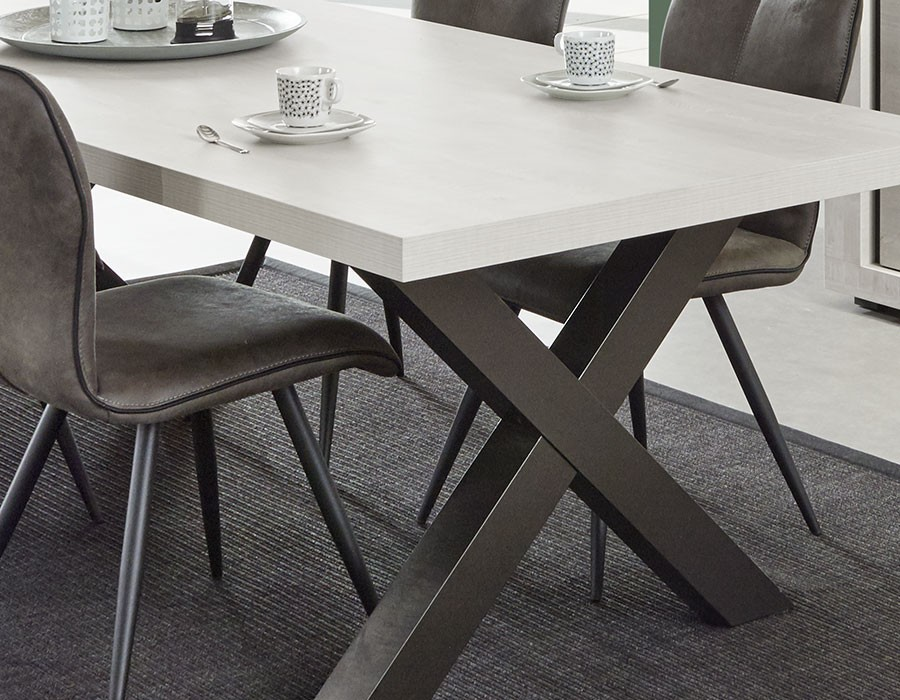 Table Salle A Manger Contemporaine Chene Gris Hcommehome