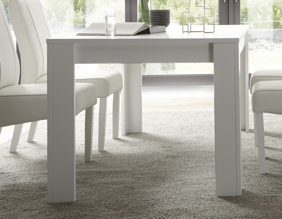 Table extensible blanc laqué design FLAVIA