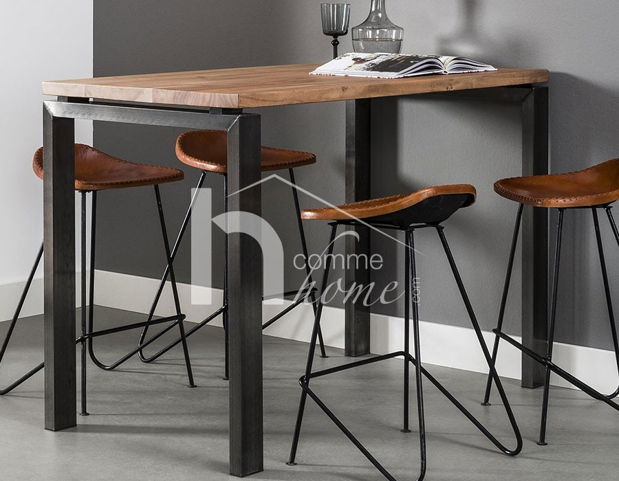 table bar bois. Black Bedroom Furniture Sets. Home Design Ideas
