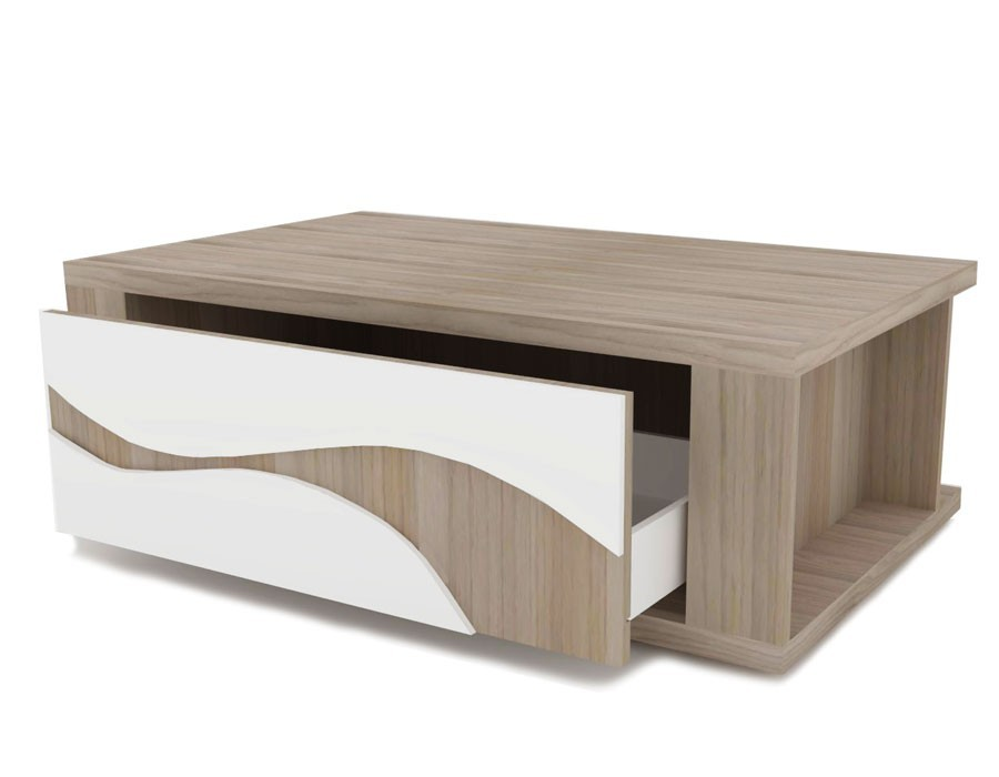 Table basse bois moderne - Table basse blanc bois ...