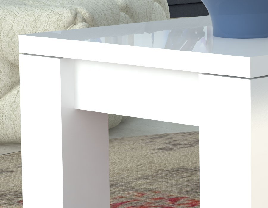 Table Basse Blanche Laquee Design Betty Hcommehome