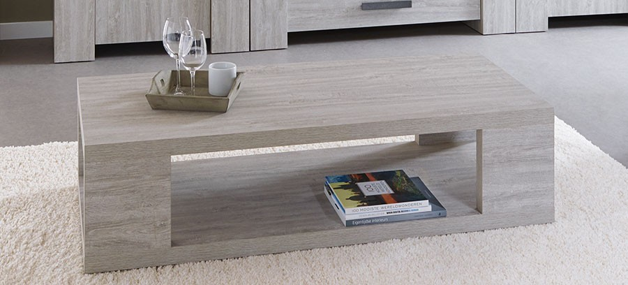 Table basse contemporaine couleur chêne gris GAND 2