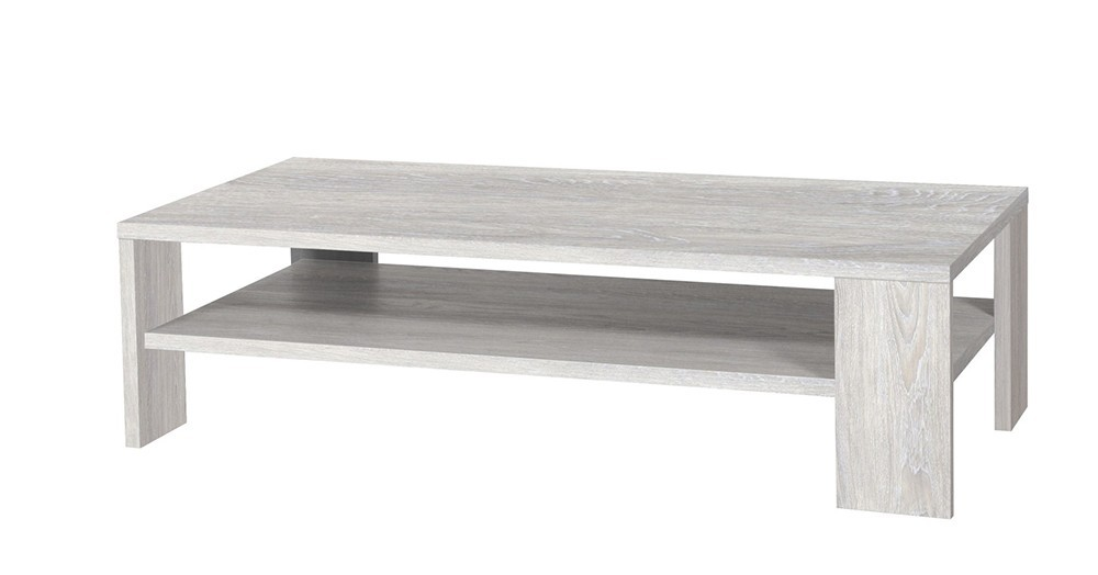 Table basse contemporaine LUTECE, coloris gris chêne