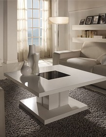 Table Basse Carrée Design Laquée Blanche Willy Table Basse Design
