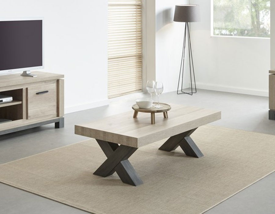 Table basse moderne couleur chêne CHESTER