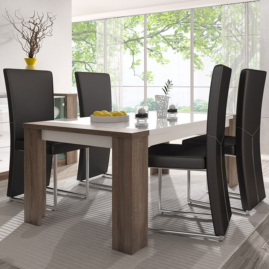 Table exotique for Tables modernes salle a manger