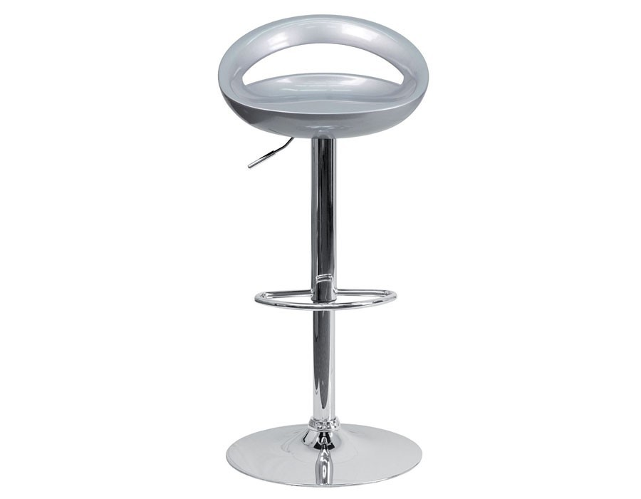 Tabouret design gris - Pied de tabouret bar chrome ...